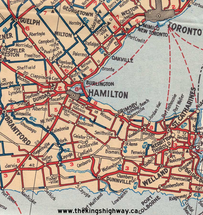 Ontario Highway 5 Route Map The