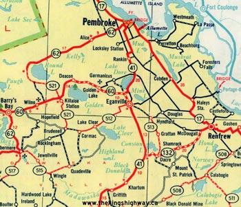 HWY 60 MAP - 1958