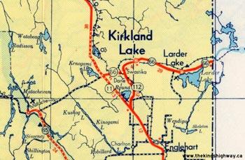 HWY 66 MAP - 1954