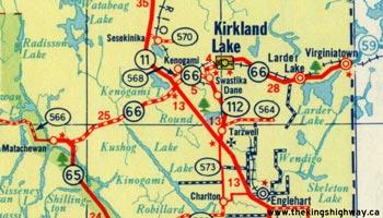 HWY 66 MAP - 1956