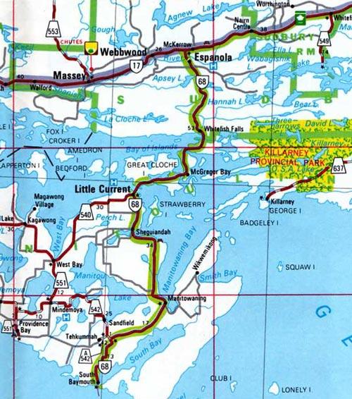 HWY 68 MAP