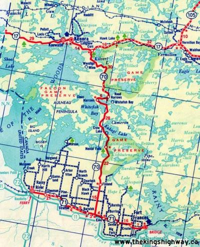 HWY 70 MAP - 1955