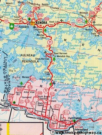 HWY 71 MAP - 1965