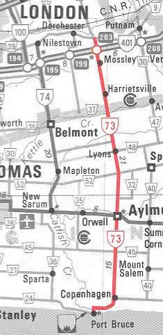 HWY 73 MAP