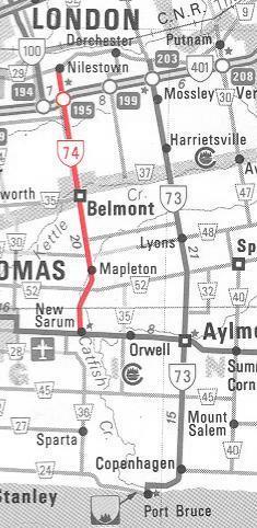 HWY 74 MAP