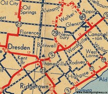HWY 79 MAP - 1946