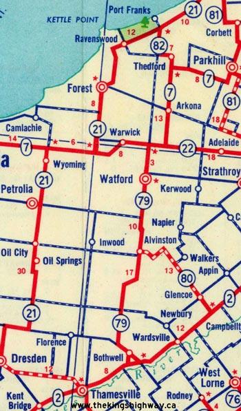 HWY 79 MAP - 1955