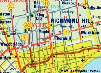 HWY 7B THORNHILL MAP