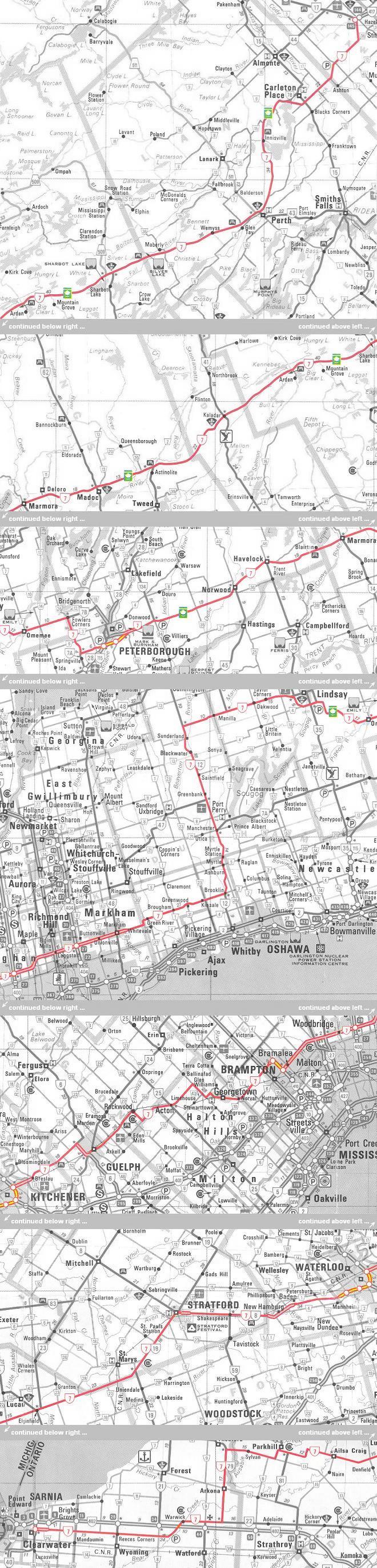 HWY 7 MAP