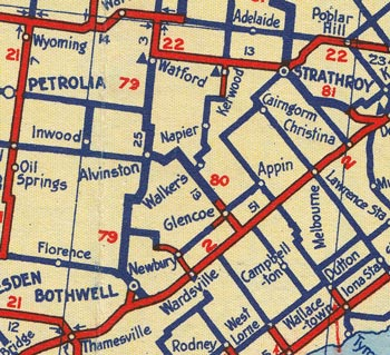 HWY 80 MAP - 1938