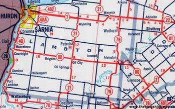 HWY 80 MAP - 1964