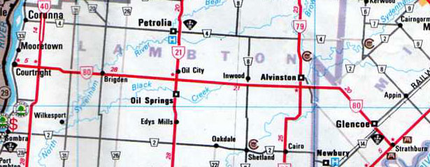 Ontario Highway 80 Route Map - The King's Highways of Ontario