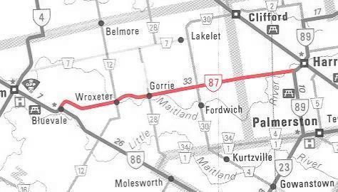 HWY 87 MAP