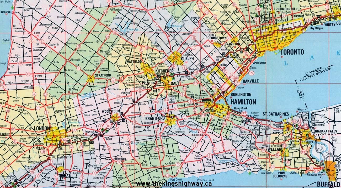 Ontario Highway 8 Route Map The Kings Highways of Ontario