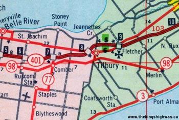 HWY 98B MAP