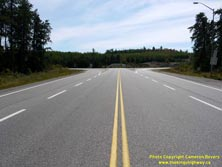 HWY 17 #1343 - © Cameron Bevers: A centreline view of Hwy 11 at the Hwy 17 Junction