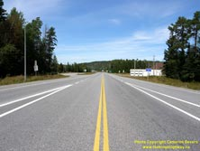HWY 17 #1345 - © Cameron Bevers: A centreline view of Hwy 11 at the Hwy 17 Junction