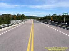 HWY 17 #1364 - © Cameron Bevers: A centreline view of Hwy 11 and Hwy 17 at the Nipigon River Bridge