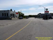 HWY 17 #1374 - © Cameron Bevers: An off-centreline view of Old Hwy 17 with commercial buildings lining both sides of the street