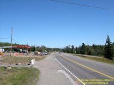 HWY 17 #1389 - © Cameron Bevers: An off-centreline view of Hwy 11 and Hwy 17 with a service station beside the highway at left