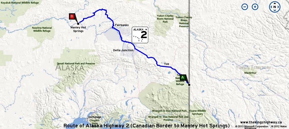 ALASKA HWY 2 ROUTE MAP - © Cameron Bevers