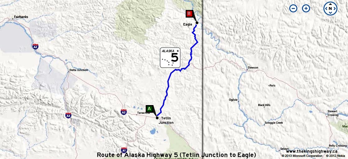 ALASKA HWY 5 ROUTE MAP - © Cameron Bevers