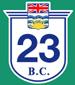 British Columbia Hwy 23 Sign Graphic