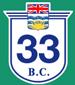British Columbia Hwy 33 Sign Graphic