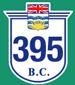 British Columbia Hwy 395 Sign Graphic
