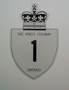 HWY 1 ROUTE MARKER